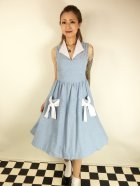 他の写真1: ☆Lindy Bop☆Joanne Powder Blue Chambray Swing Dress 15号