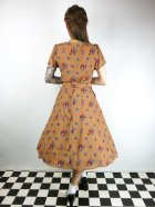 他の写真3: ☆Lindy Bop☆Bretta Mastard Squirrel Print Tea Dress 11号