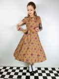 ☆Lindy Bop☆Bretta Mastard Squirrel Print Tea Dress 15号