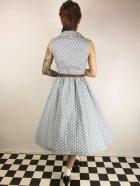 他の写真3: ☆Lindy Bop☆Matilda Powder Blue Polka Dot Shirt Dress 17号