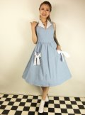 ☆Lindy Bop☆Joanne Powder Blue Chambray Swing Dress 9号