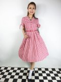☆Lindy Bop☆Claudine Red Gingham Swing Dress 9号