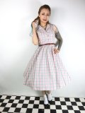 ☆Lindy Bop☆Matilda Pink Green Gingham Shirt Dress 11号