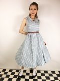 ☆Lindy Bop☆Matilda Powder Blue Polka Dot Shirt Dress 15号