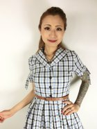 他の写真2: ☆Lindy Bop☆Claudine Blue Check Swing Dress 13号