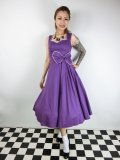☆Lindy Bop☆Grace Purple Swing Dress 11号