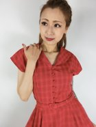 他の写真2: ☆Collectif Vintage☆DINAH CHECK SWING DRESS Red 17号