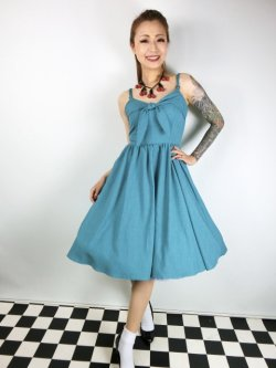 画像1: ☆Lucky13☆THE LUCILLE SWING DRESS-JADE(XL)15号