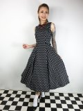 ☆Collectif Vintage☆FRANCES POLKA DOT SWING DRESS 17号