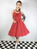 ☆Lucky13☆THE LUCILLE SWING DRESS-RED(S)9号