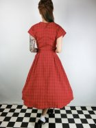 他の写真3: ☆Collectif Vintage☆DINAH CHECK SWING DRESS Red 15号