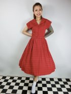 他の写真1: ☆Collectif Vintage☆DINAH CHECK SWING DRESS Red 15号