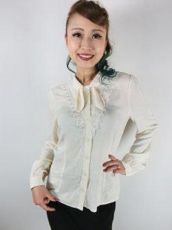 画像1: ☆HELL BUNNY☆Adelia Blouse Ivory(XS)9号