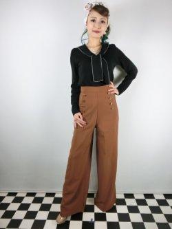 画像2: ☆Lindy Bop☆Adonia Classic Vintage Inspired Sailor Pants Cinnamon 17号
