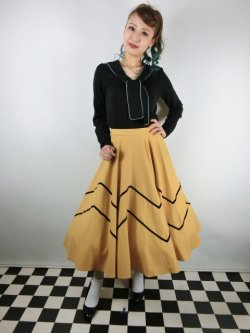 画像2: ☆Collectif☆ MILLA SWING SKIRT Mustard 11号