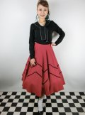 ☆Collectif☆ MILLA SWING SKIRT Red 15号