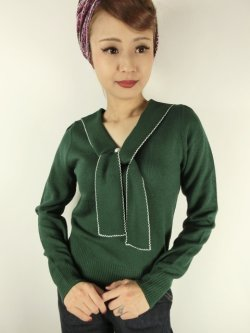 画像1: ☆HELL BUNNY☆Connie Jumper Dark Green(L)15号