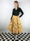 ☆Collectif☆ MILLA SWING SKIRT Mustard 15号