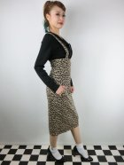 他の写真2: ☆Collectif☆ KAREN LEOPARD DUNGAREE SKIRT 15号