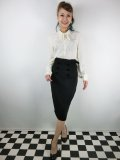 ☆COLLECTIF VINTAGE☆AGATHA PLAIN PENCIL SKIRT 15号