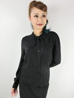 画像1: ☆HELL BUNNY☆Adelia Blouse Black(L)15号