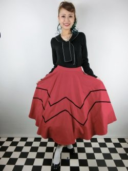 画像2: ☆Collectif☆ MILLA SWING SKIRT Red 13号
