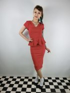 他の写真1: ☆Collectif Vintage☆MAVEN PLAIN PENCIL DRESS Red 13号
