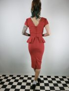 他の写真3: ☆Collectif Vintage☆MAVEN PLAIN PENCIL DRESS Red 13号