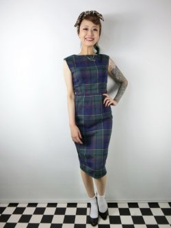 画像2: ☆Collectif ☆ASTRID SCOTTY CHECK PENCIL DRESS 9号