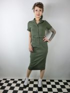 他の写真1: ☆Collectif☆CATERINA VINTAGE PENCIL DRESS Olive Green 7号