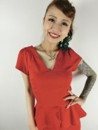 他の写真2: ☆Collectif Vintage☆MAVEN PLAIN PENCIL DRESS Red 13号