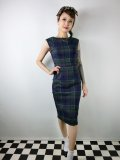 ☆Collectif ☆ASTRID SCOTTY CHECK PENCIL DRESS 9号