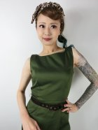 他の写真2: ☆Collectif☆HEPBURN VINTAGE PENCIL DRESS Green 9号