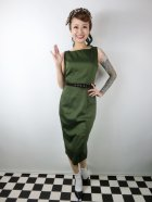 他の写真1: ☆Collectif☆HEPBURN VINTAGE PENCIL DRESS Green 11号