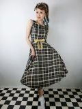 ☆Collectif Vintage☆ SILVA GEEK CHECK SWING DRESS 9号