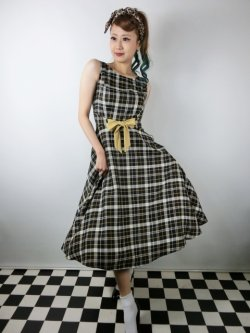 画像1: ☆Collectif Vintage☆ SILVA GEEK CHECK SWING DRESS 9号
