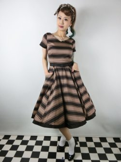 画像2: ☆Collectif Vintage☆SAFFRON BEETLE STRIPE SWING DRESS 11号