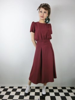 画像2: ☆Collectif ☆LAVENDER PLAIN DRESS Burgundy 13号
