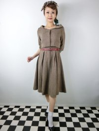 ☆Lindy Bop☆Aggi Mink Tweed Swing Dress & Jacket Set 13号