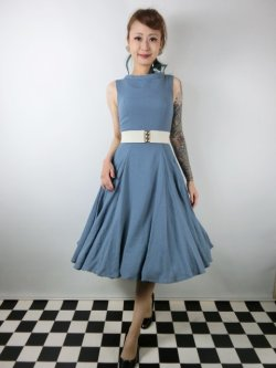 画像2: ☆Collectif ☆TARA PLAIN DRESS Blue 7号