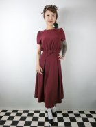 他の写真1: ☆Collectif ☆LAVENDER PLAIN DRESS Burgundy 13号