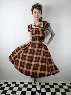 画像2: ☆Collectif☆MIMI PUMPKIN CHECK DOLL DRESS 17号