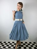 ☆Collectif ☆TARA PLAIN DRESS Blue 13号