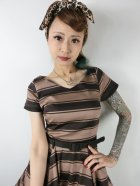 他の写真2: ☆Collectif Vintage☆SAFFRON BEETLE STRIPE SWING DRESS 11号