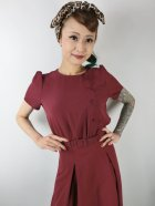 他の写真2: ☆Collectif ☆LAVENDER PLAIN DRESS Burgundy 9号