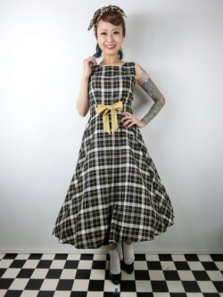 画像2: ☆Collectif Vintage☆ SILVA GEEK CHECK SWING DRESS 9号