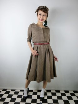 画像2: ☆Lindy Bop☆Aggi Mink Tweed Swing Dress & Jacket Set 13号