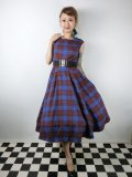☆Collectif ☆ ASTRID HUNTERS CHECK DRESS Blue 13号