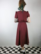 他の写真3: ☆Collectif ☆LAVENDER PLAIN DRESS Burgundy 9号