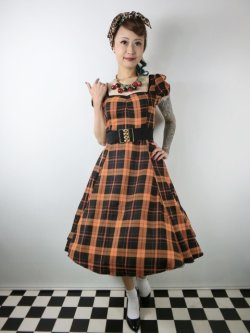 画像1: ☆Collectif☆MIMI PUMPKIN CHECK DOLL DRESS 15号